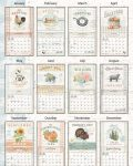 Farmhouse 2021 Lang Kalender Maandplaatjes