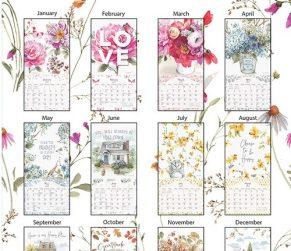Watercolor Seasons 2022_1 Lang Verticale Kalender