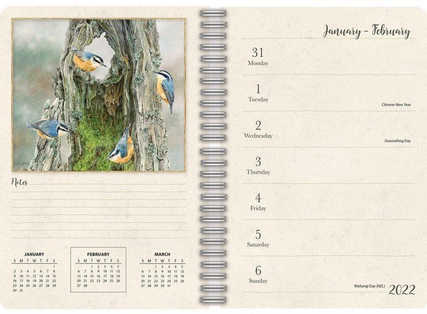 Birds in the garden 2022_2 Lang Engagement Planner