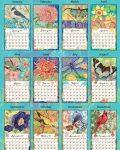 Bohemian Garden 2021 Lang Kalender Maandplaatjes