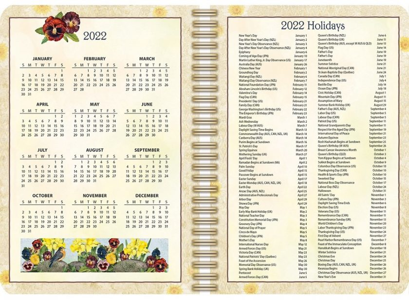 Garden Botanicals 2022_3 Lang Engagement Planner