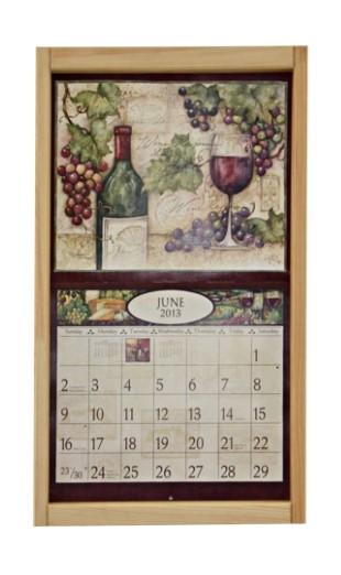 Lang Kalender Frame Grenen onbewerkt