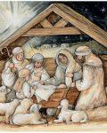 Nativity Hues Christmas Cards 2004048F