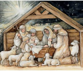Nativity Hues Christmas Cards 2004048F