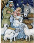 Sheep Nativity Lang Puzzel 5040118P