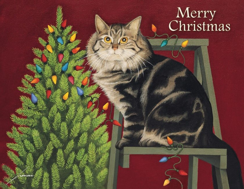 Stringing Light Christmas Cards by Lang. 1004833 F