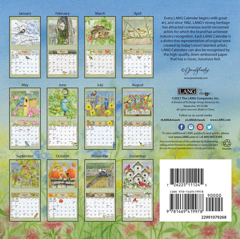 Birds in the Garden 2022_1 Lang Mini Kalender
